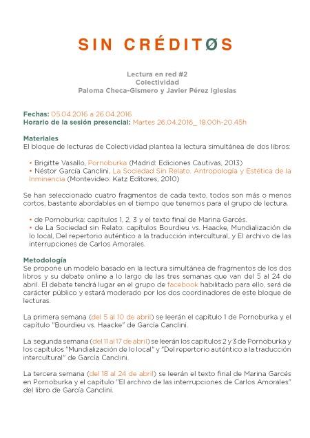 Lectura en red #2_Colectividad - Paloma Checa-Gismero + Javier Perez Iglesias