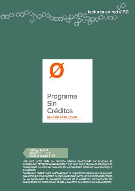 Resultados Lectura en red #1_Fuera de Programa - Miguel Mesa + Enrique Nieto